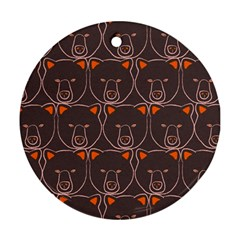 Bears Pattern Round Ornament (Two Sides)
