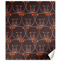 Bears Pattern Canvas 20  X 24