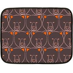 Bears Pattern Double Sided Fleece Blanket (Mini)