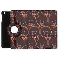 Bears Pattern Apple Ipad Mini Flip 360 Case