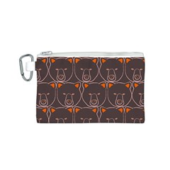Bears Pattern Canvas Cosmetic Bag (S)