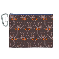 Bears Pattern Canvas Cosmetic Bag (xl)