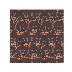 Bears Pattern Small Satin Scarf (square)