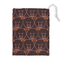Bears Pattern Drawstring Pouches (extra Large)