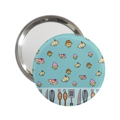Kawaii Kitchen Border 2.25  Handbag Mirrors
