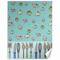 Kawaii Kitchen Border Canvas 18  X 24