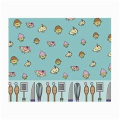 Kawaii Kitchen Border Small Glasses Cloth (2-Side)