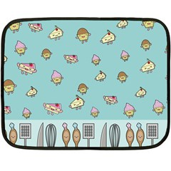 Kawaii Kitchen Border Fleece Blanket (mini)