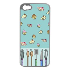 Kawaii Kitchen Border Apple Iphone 5 Case (silver)