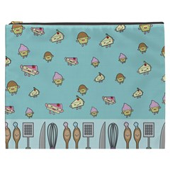 Kawaii Kitchen Border Cosmetic Bag (XXXL)