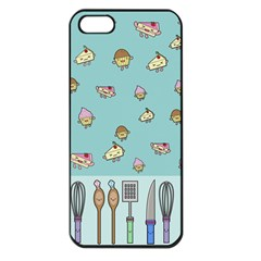 Kawaii Kitchen Border Apple Iphone 5 Seamless Case (black)