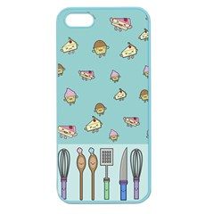 Kawaii Kitchen Border Apple Seamless Iphone 5 Case (color)