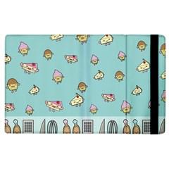 Kawaii Kitchen Border Apple Ipad 3/4 Flip Case