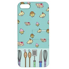 Kawaii Kitchen Border Apple iPhone 5 Hardshell Case with Stand