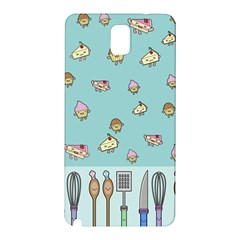 Kawaii Kitchen Border Samsung Galaxy Note 3 N9005 Hardshell Back Case