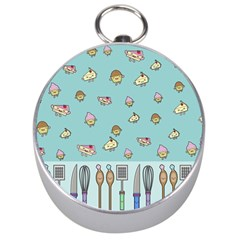 Kawaii Kitchen Border Silver Compasses