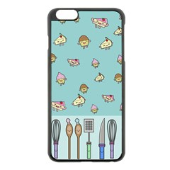 Kawaii Kitchen Border Apple Iphone 6 Plus/6s Plus Black Enamel Case