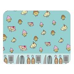 Kawaii Kitchen Border Double Sided Flano Blanket (Large)