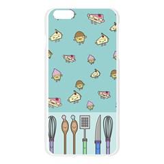 Kawaii Kitchen Border Apple Seamless iPhone 6 Plus/6S Plus Case (Transparent)