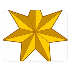 Star Yellow Blue Double Sided Flano Blanket (Large)