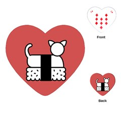 Sushi Cat Japanese Food Playing Cards (Heart)
