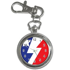 Three Colors Blue White Line Star Key Chain Watches