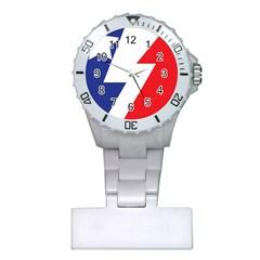 Three Colors Blue White Line Star Plastic Nurses Watch