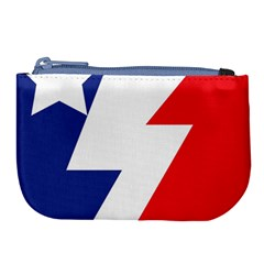Three Colors Blue White Line Star Large Coin Purse