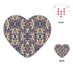 Multicolored Modern Geometric Pattern Playing Cards (Heart)