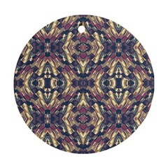 Multicolored Modern Geometric Pattern Round Ornament (Two Sides)