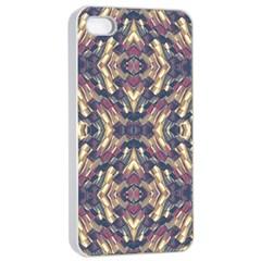Multicolored Modern Geometric Pattern Apple iPhone 4/4s Seamless Case (White)