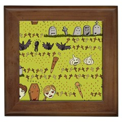 Horror Vampire Kawaii Framed Tiles