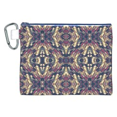Multicolored Modern Geometric Pattern Canvas Cosmetic Bag (XXL)