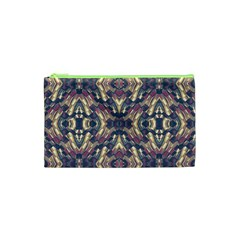 Multicolored Modern Geometric Pattern Cosmetic Bag (xs)