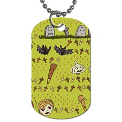 Horror Vampire Kawaii Dog Tag (two Sides)