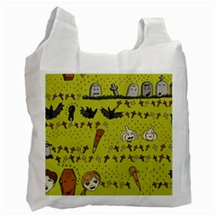 Horror Vampire Kawaii Recycle Bag (one Side)