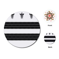 Wasp Bee Hive Black Animals Playing Cards (Round)
