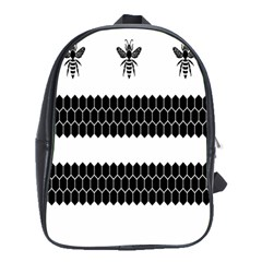 Wasp Bee Hive Black Animals School Bags(large)