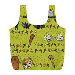 Horror Vampire Kawaii Full Print Recycle Bags (l)