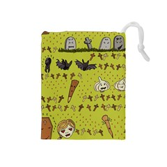 Horror Vampire Kawaii Drawstring Pouches (Medium)