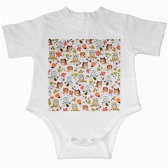 Cute Owl Infant Creepers