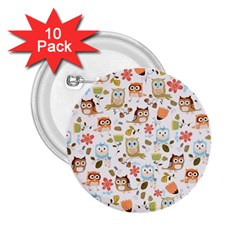 Cute Owl 2.25  Buttons (10 pack)