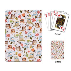 Cute Owl Playing Card