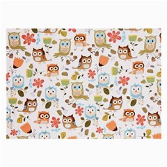 Cute Owl Large Glasses Cloth (2 Side)