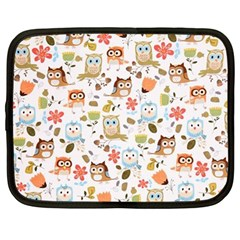 Cute Owl Netbook Case (Large)