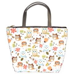 Cute Owl Bucket Bags