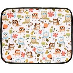 Cute Owl Double Sided Fleece Blanket (Mini)