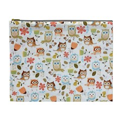 Cute Owl Cosmetic Bag (XL)