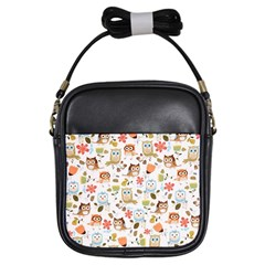 Cute Owl Girls Sling Bags