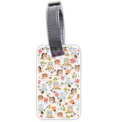 Cute Owl Luggage Tags (One Side)